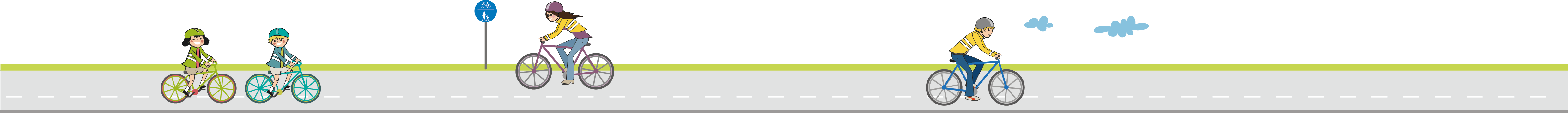 Illu-Radfahrende-Folder